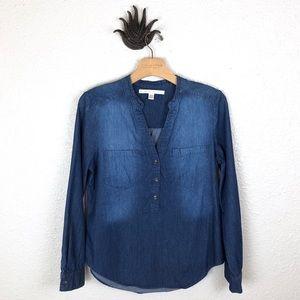 LC LAUREN CONRAD | chambray denim shirt, medium